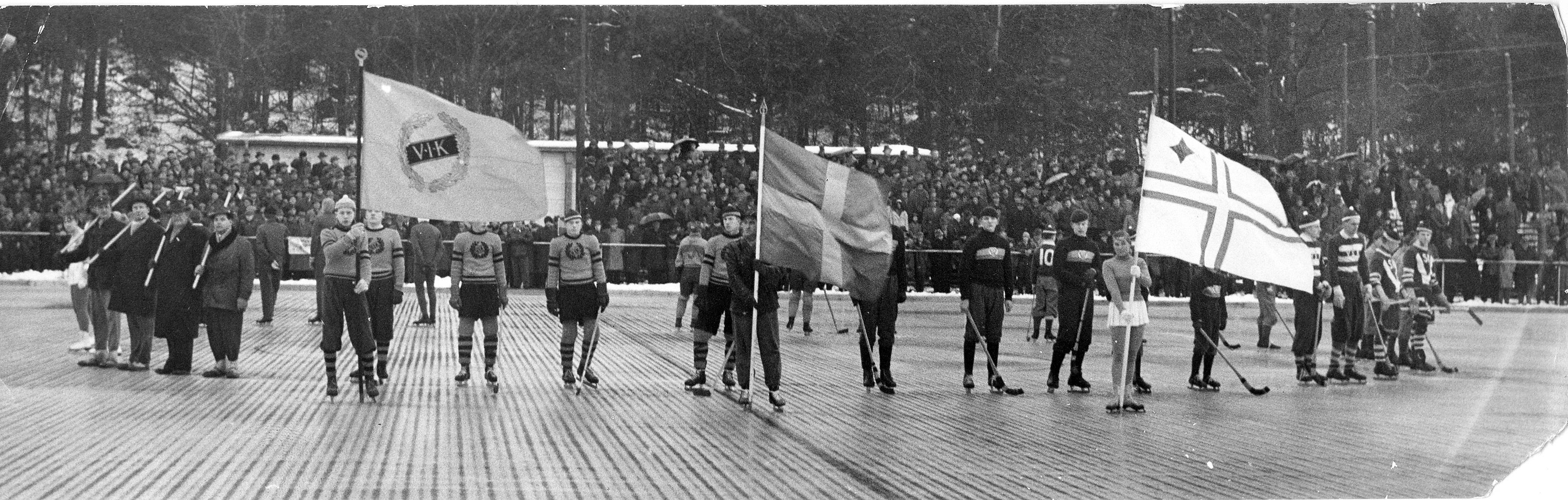 Invigningen 1956. Foto ur boken Arosidrottens 1000 år.