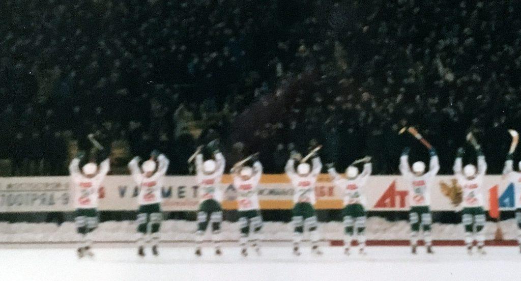 VSK hyllas av den ryska publiken 1996.