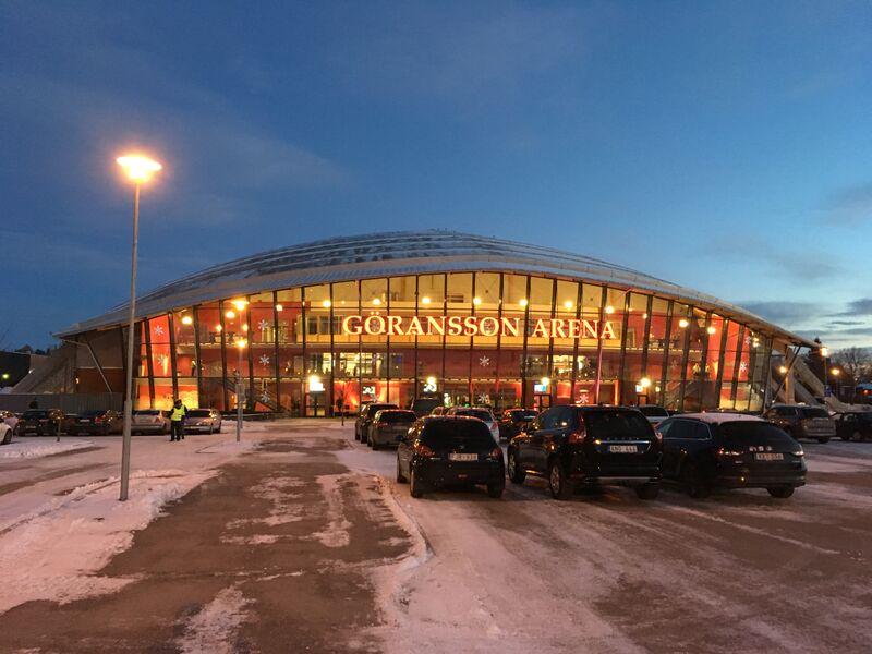 Göransson Arena, sponsrad av Sandvik som grundades av Göran Fredrik Göransson.